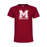 Youth Maroon T Shirt-Primary Mark