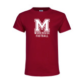 Youth Maroon T Shirt-Morehouse Football