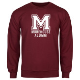 Maroon Fleece Crew-Morehouse Alumni