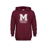 Youth Maroon Fleece Hoodie-Morehouse Football