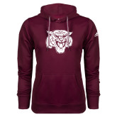Adidas Climawarm Maroon Team Issue Hoodie-Mascot Logo