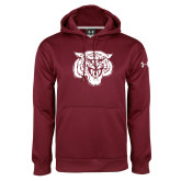 Under Armour Maroon Performance Sweats Team Hoodie-Mascot Logo