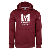 Under Armour Maroon Performance Sweats Team Hoodie-Morehouse Football