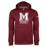 Under Armour Maroon Performance Sweats Team Hoodie-Morehouse Baseball