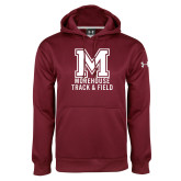 Under Armour Maroon Performance Sweats Team Hoodie-Morehouse Track and Field