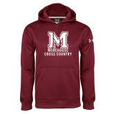 Under Armour Maroon Performance Sweats Team Hoodie-Morehouse Cross Country