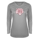 Ladies Syntrel Performance Platinum Longsleeve Shirt-Mascot Logo
