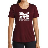 Ladies Performance Maroon Tee-Tiger Stripe M