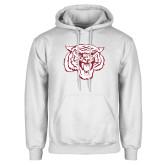 White Fleece Hoodie-Mascot Logo