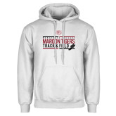 White Fleece Hoodie-Track and Field Graphic