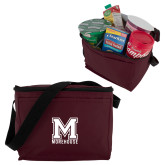 Six Pack Maroon Cooler-Primary Mark
