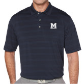 Callaway Horizontal Textured Navy Polo-Primary Mark