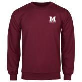 Maroon Fleece Crew-Primary Mark