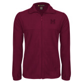 Fleece Full Zip Maroon Jacket-Primary Mark