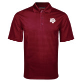 Maroon Mini Stripe Polo-Mascot Logo