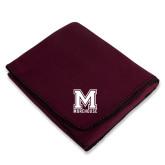 Maroon Arctic Fleece Blanket-Primary Mark