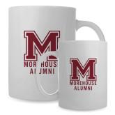 Alumni Full Color White Mug 15oz-Morehouse Alumni