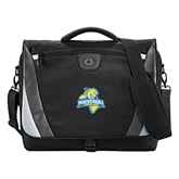Slope Black/Grey Compu Messenger Bag-Misericordia Official Logo