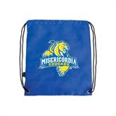 Royal Drawstring Backpack-Misericordia Official Logo