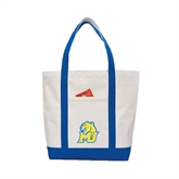 Contender White/Royal Canvas Tote-MU w/Cougar Head