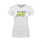 Next Level Ladies SoftStyle Junior Fitted White Tee-MU