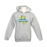 Youth Grey Fleece Hood-Misericordia Official Logo