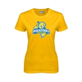 Ladies Gold T Shirt-Misericordia Official Logo