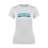 Ladies Syntrel Performance White Tee-Arched Misericordia Cougars
