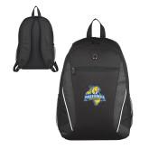 Atlas Black Computer Backpack-Misericordia Official Logo