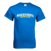 Royal T Shirt-Arched Misericordia Cougars Wordmark