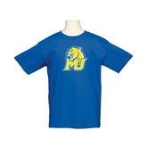 Youth Royal T Shirt-MU w/Cougar Head