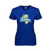 Ladies Royal T Shirt-Misericordia Official Logo
