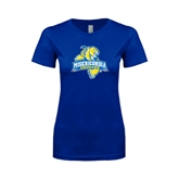 Next Level Ladies SoftStyle Junior Fitted Royal Tee-Misericordia Official Logo
