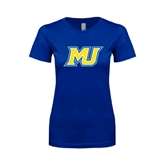 Next Level Ladies SoftStyle Junior Fitted Royal Tee-MU