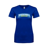 Next Level Ladies SoftStyle Junior Fitted Royal Tee-Arched Misericordia Cougars