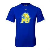 Under Armour Royal Tech Tee-MU w/Cougar Head