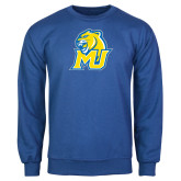 Royal Fleece Crew-MU w/Cougar Head