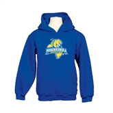 Youth Royal Fleece Hoodie-Misericordia Official Logo