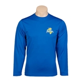 Performance Royal Longsleeve Shirt-Misericordia Official Logo