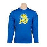 Performance Royal Longsleeve Shirt-MU w/Cougar Head