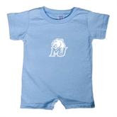Light Blue Infant Romper-MU w/Cougar Head