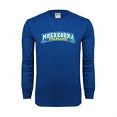 Royal Long Sleeve T Shirt-Arched Misericordia Cougars