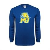 Royal Long Sleeve T Shirt-MU w/Cougar Head
