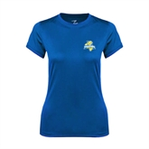 Ladies Syntrel Performance Royal Tee-Misericordia Official Logo