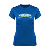 Ladies Syntrel Performance Royal Tee-Arched Misericordia Cougars