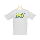 Youth White T Shirt-MU