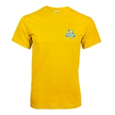 Gold T Shirt-Misericordia Official Logo
