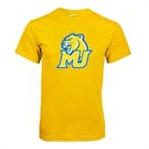 Gold T Shirt-MU w/Cougar Head