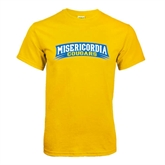 Gold T Shirt-Arched Misericordia Cougars