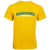 Gold T Shirt-Arched Misericordia Cougars Wordmark